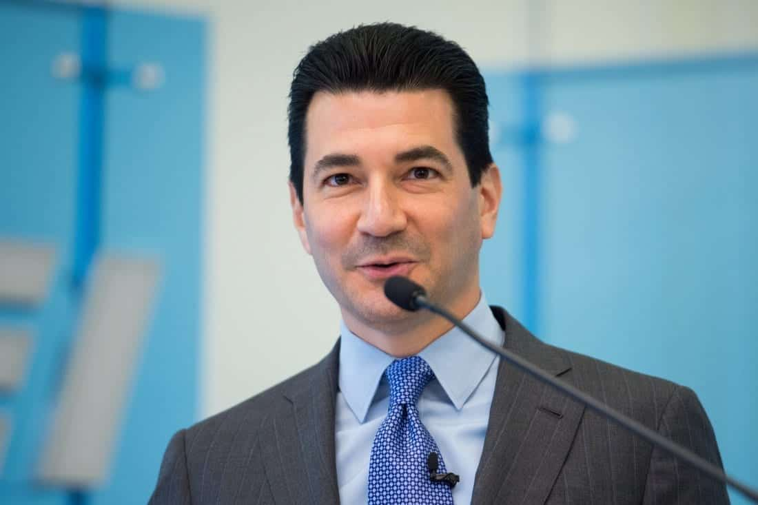Scott Gottlieb, EPA chief nominee, speaking at a conference.