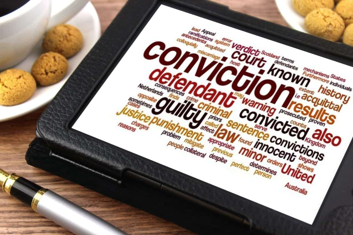 "Image of a tablet with legal terms, including ""Conviction""; image by Nick Youngson - http://www.nyphotgraphic.com via Alpha Stock Images - http://alphastockimages.com, CC BY-SA 3.0, no changes."
