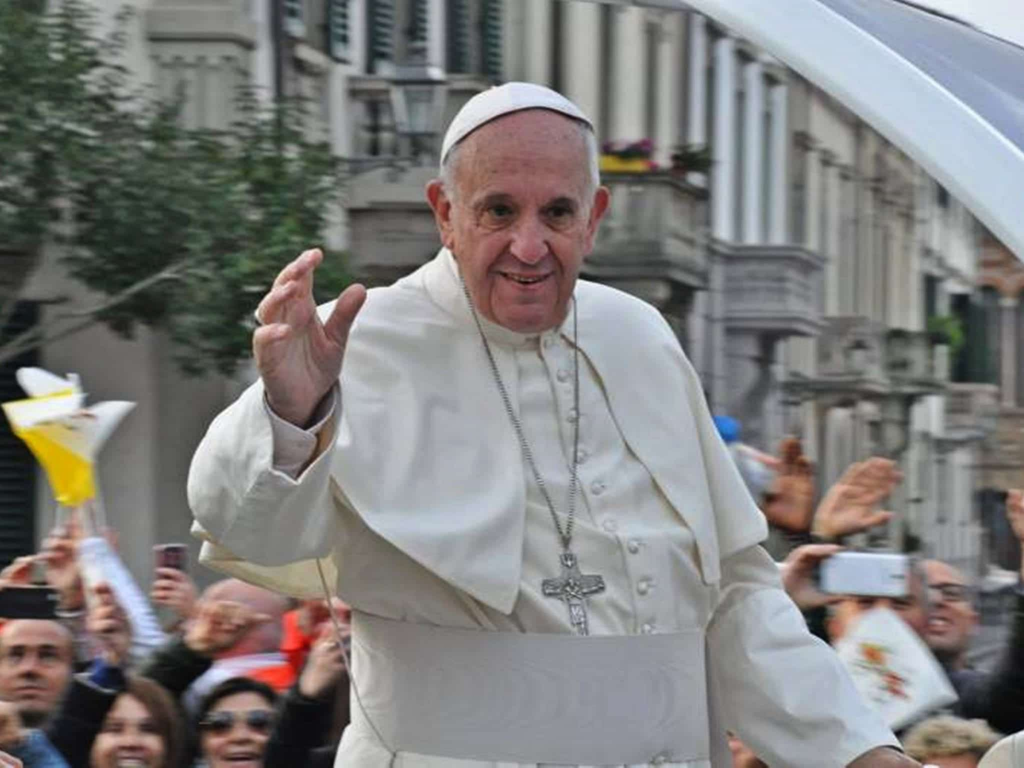 Pope Francis; image by Zebra48bo, CC BY-SA 4.0, from Wikimedia Commons, no changes.