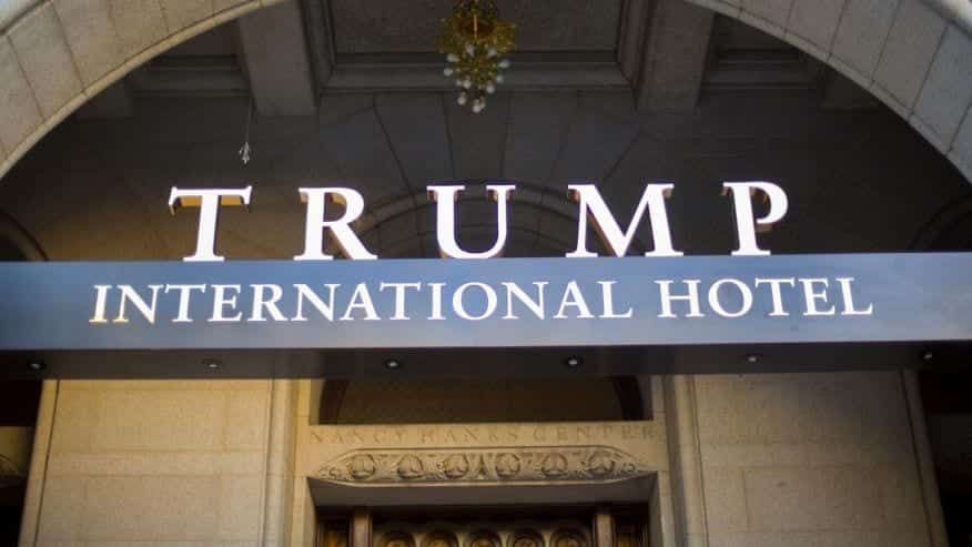 Image of the outside of the Trump International Hotel