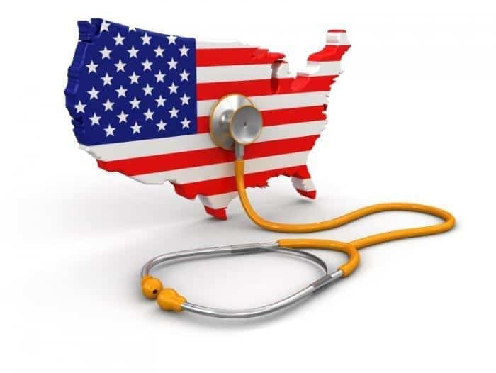 Image of a Model of the U.S. with Stethoscope
