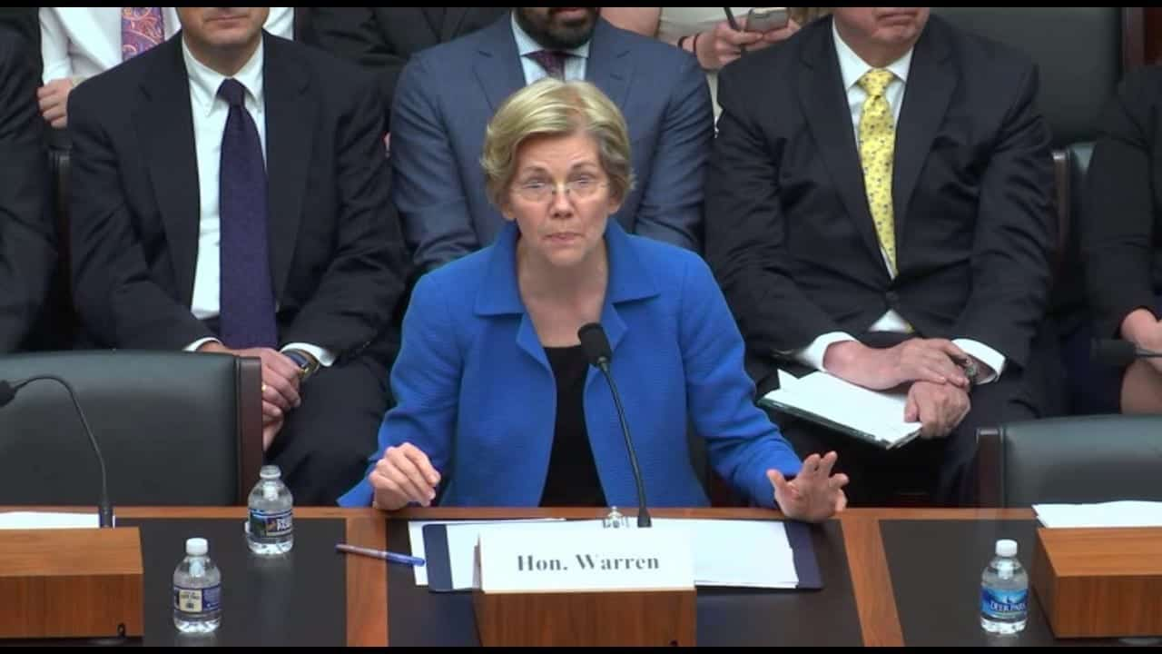 Elizabeth Warren testifies in Congress regarding the Dodd-Frank Act.