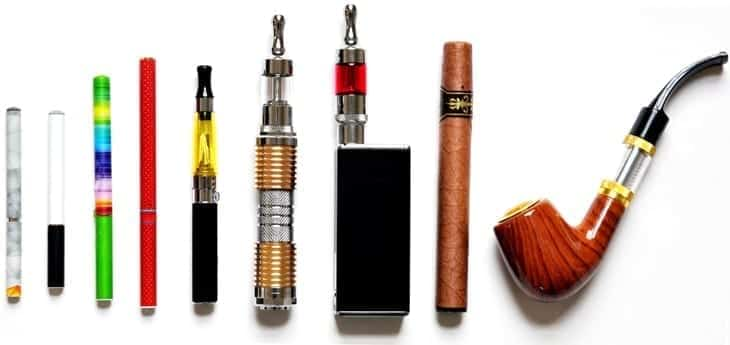 E-cigarette devices. Image courtesy of the FDA, Public domain.