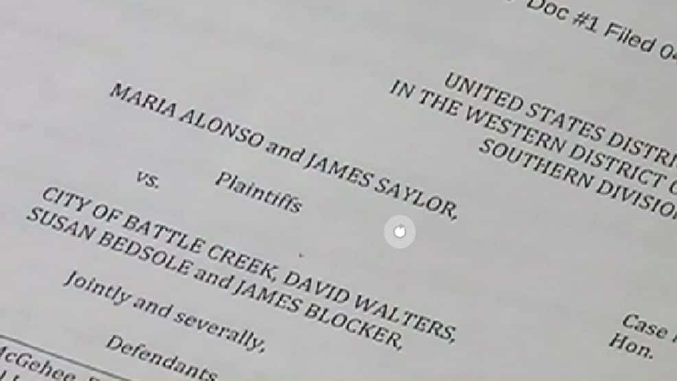 Image of a Page from City of Battle Creek vs. Alonso and Saylor Lawsuit
