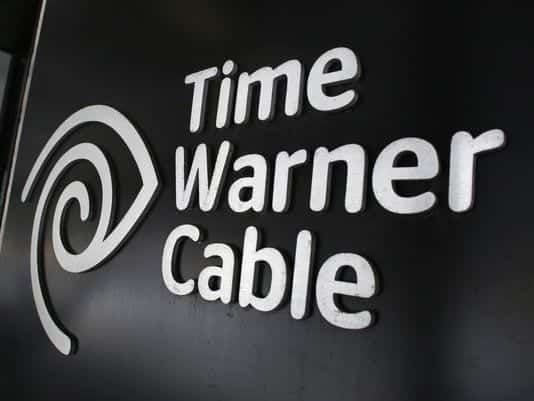 Image of the words 'Time Warner Cable' and it's logo