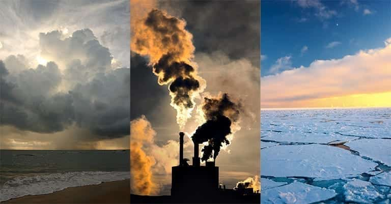 Various aspects of climate change; image courtesy of www.climate.nasa.gov.