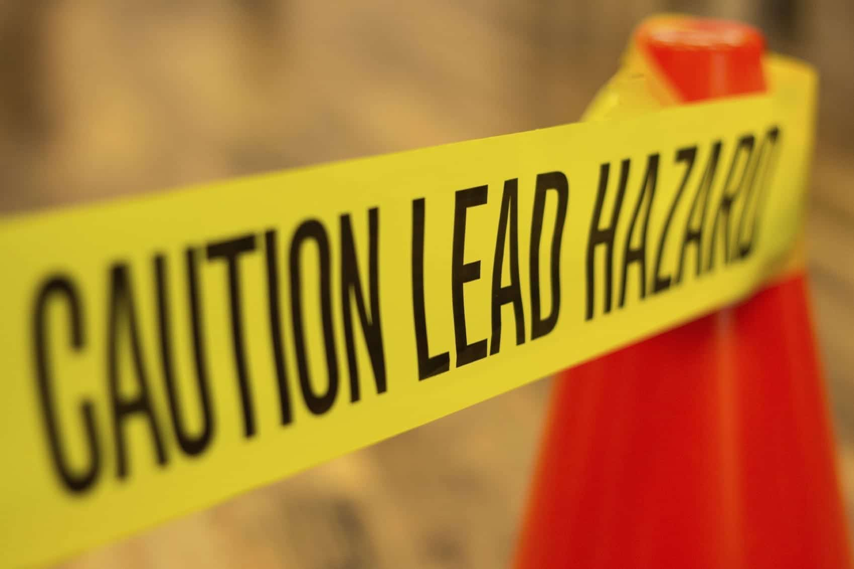 Image of a Lead Exposure Caution Sign