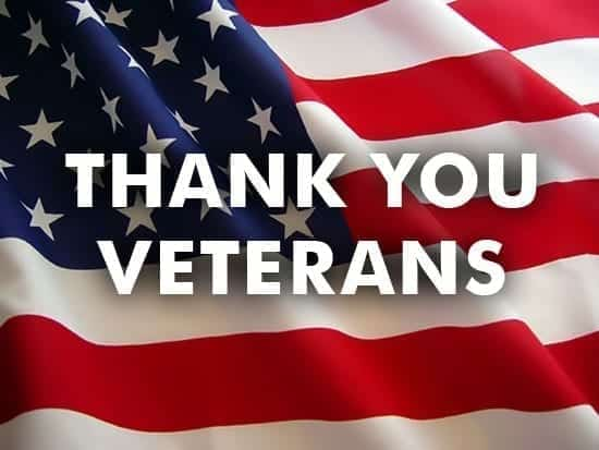 Thank you, Veterans; image courtesy Up by Their Bootstraps.