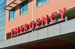 Image of a Hospital Emergency Room Sign