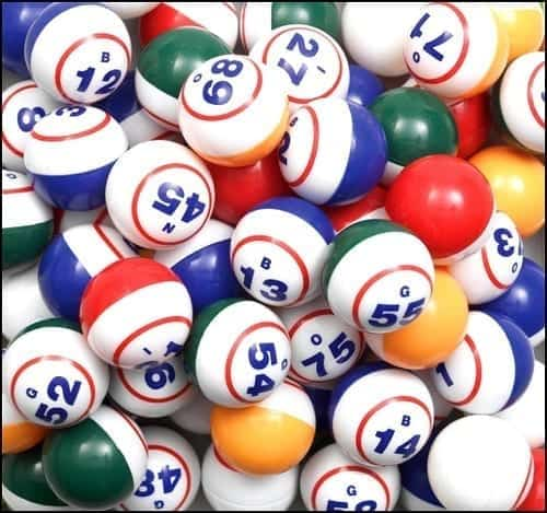 Bingo balls; image by Digby Fire Department, via Flickr, CC BY-ND 2.0, no changes.