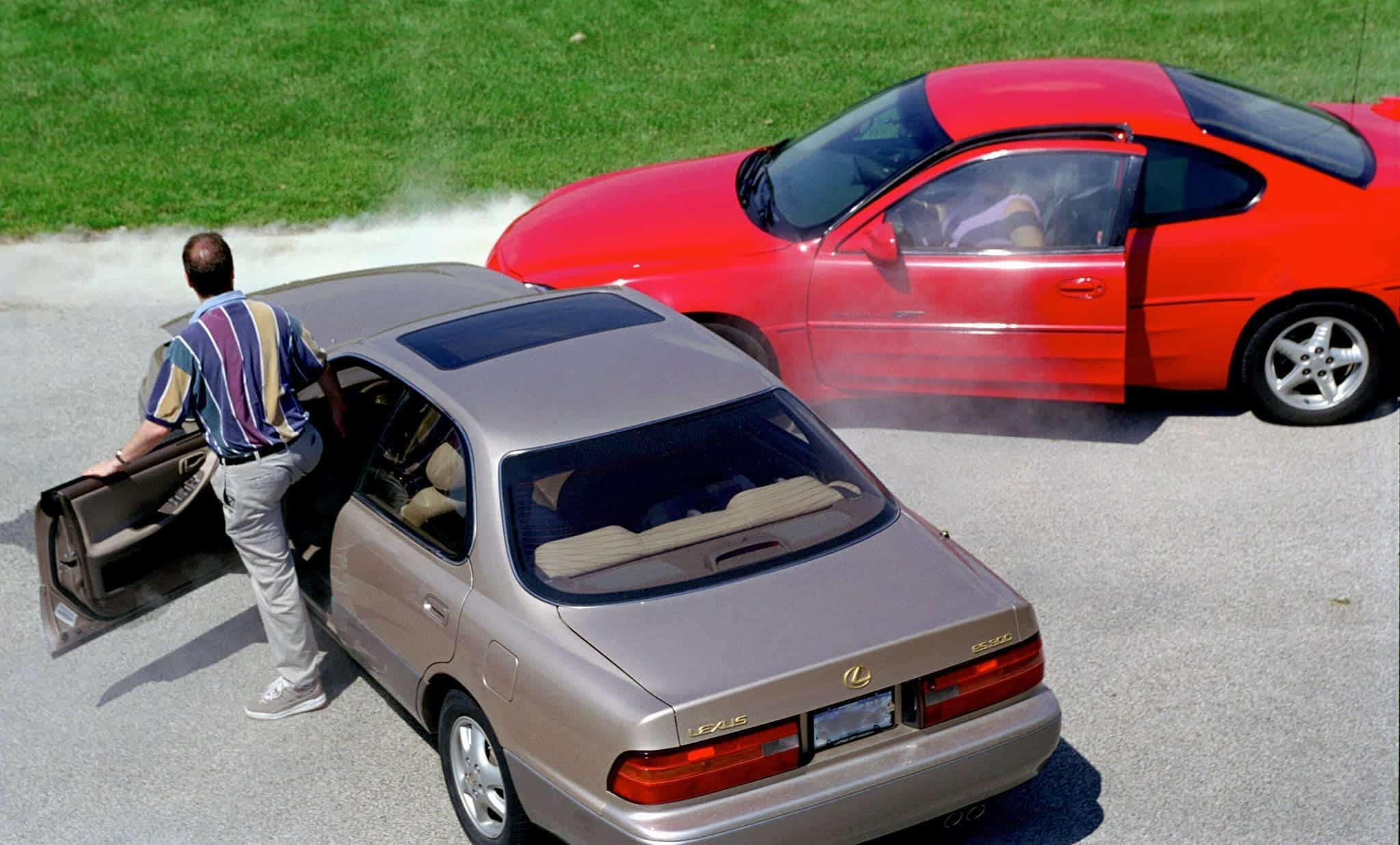 Two-car accident; image courtesy of State Farm, via Flickr, CC BY 2.0, no changes made.