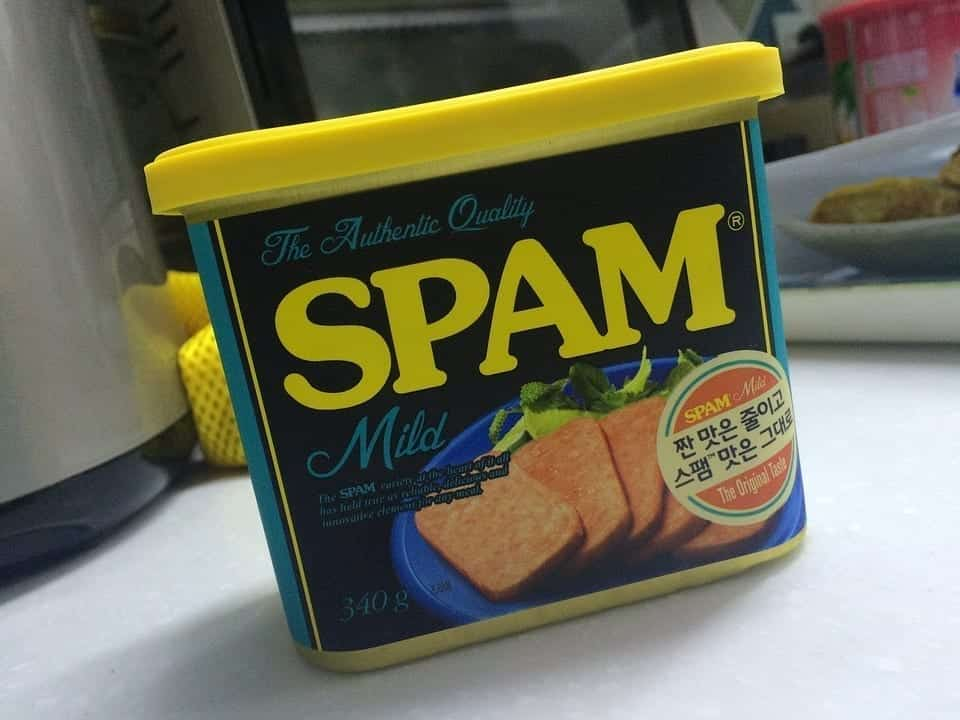 Image of a can of Spam
