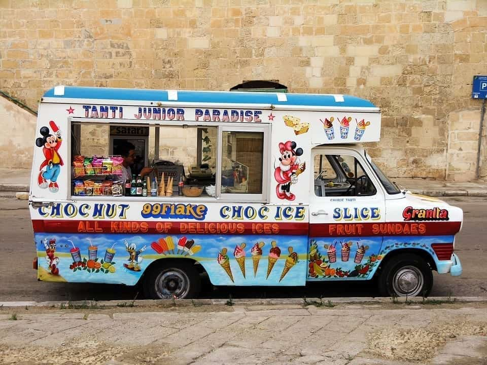 Image of an ice cream truck