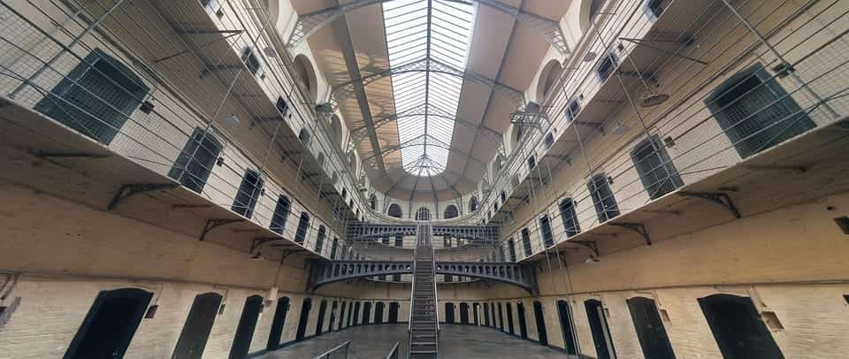 Image of the inside of a jail