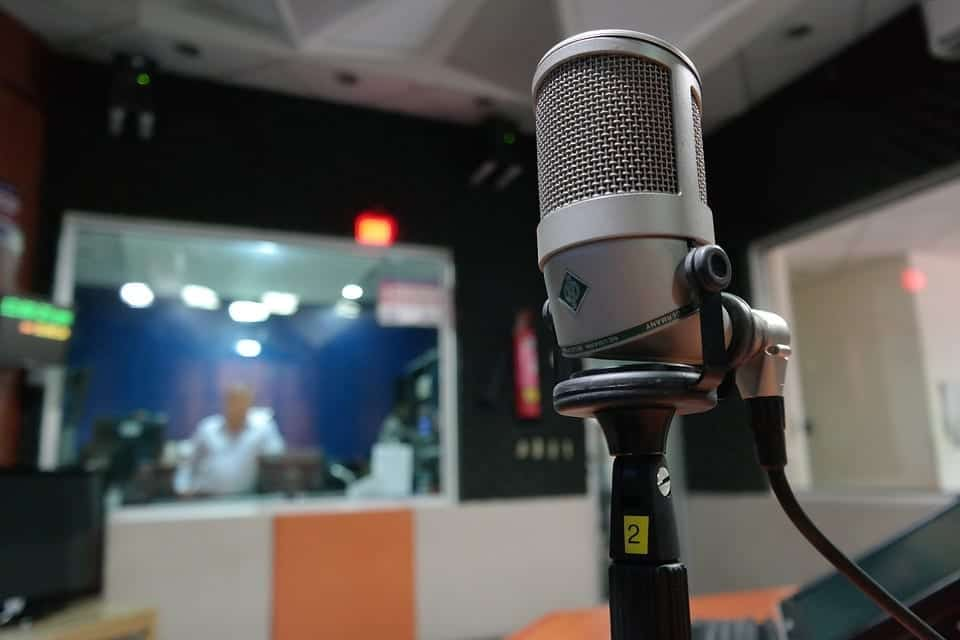 Image of a radio studio