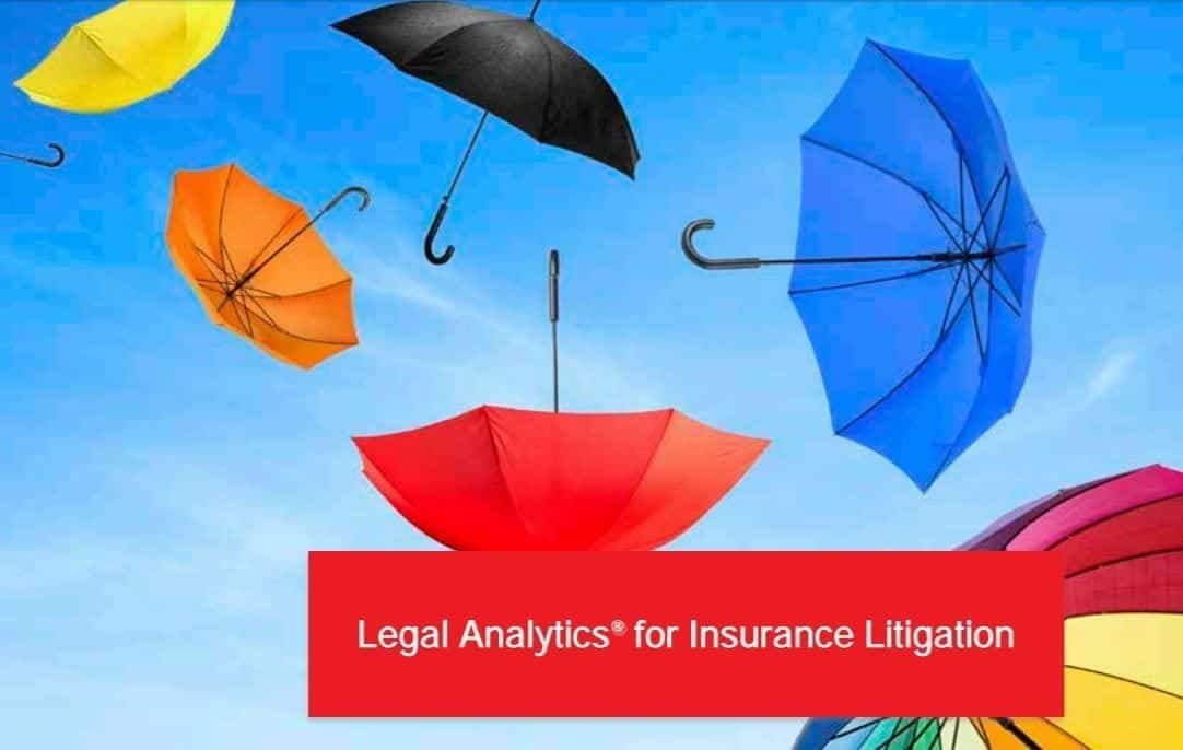 Legal Analytics for Insurance Litigation; image courtesy of Lex Machina.