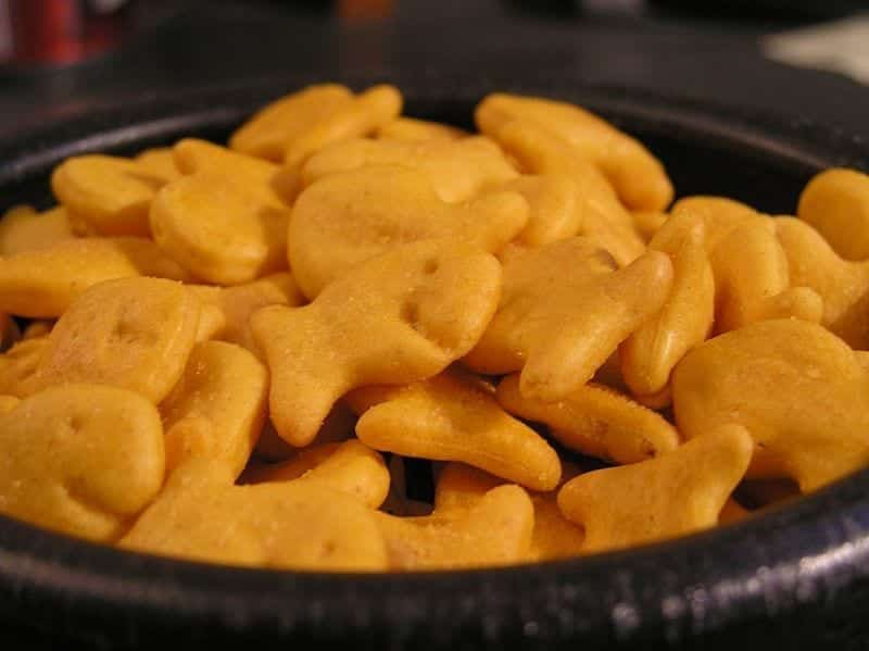 Image of Goldfish crackers in a bowl