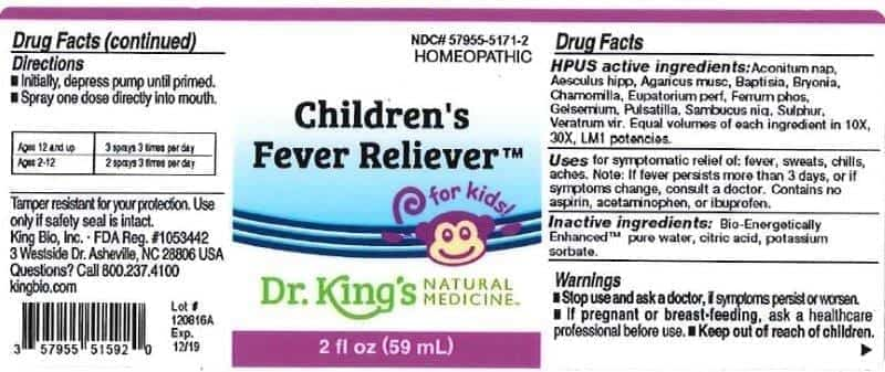 Image of a Label of Recalled King Bio Product