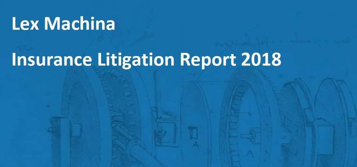 Lex Machina Insurance Litigation Report 2018; image provided by Lex Machina.