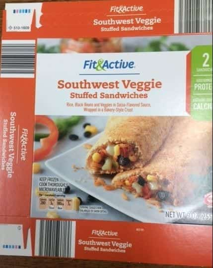 Image of a box of recalled Aldi Sandwiches