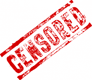 Graphic of the word CENSORED