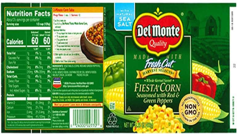 Recalled Canned Corn