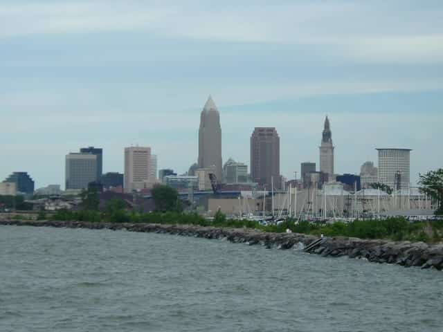 Downtown Cleveland as viewed from Edgewater Park