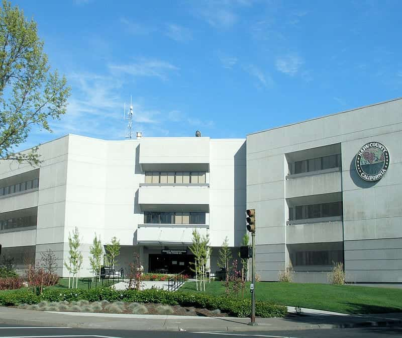 The County Administration Building at the county seat, the City of Napa