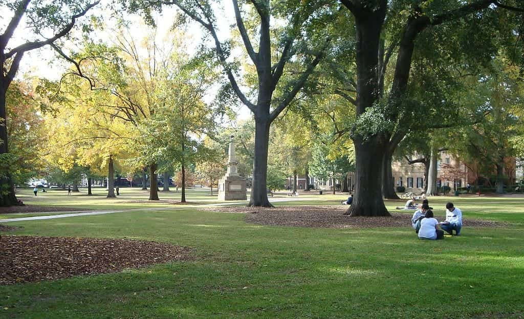 The University of South Carolina's historic Horseshoe
