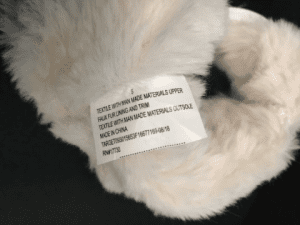 Recalled Cat & Jack 'Chiara' Boots inside tag with item number