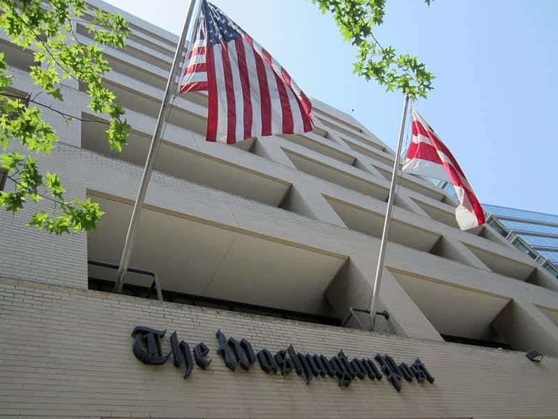 The previous headquarters of The Washington Post on 15th Street NW in Washington, D.C.