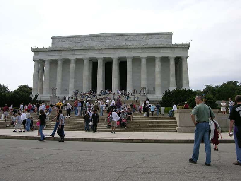 The stairs of the Lincoln Memorial, the site of the incident