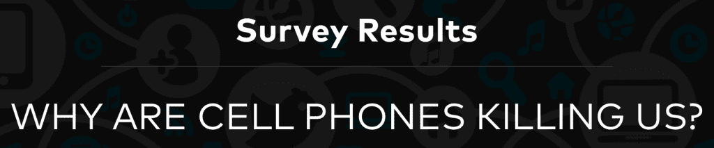 Survey Results: Why Are Cell Phones Killing Us? Image courtesy of SimplyInsurance.com.