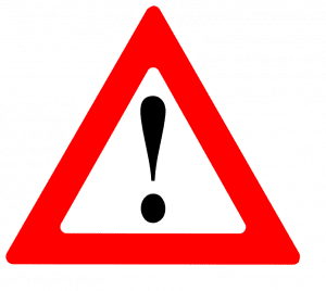 Warning Sign; image courtesy of Clker-Free-Vector-Images via Pixabay, www.pixabay.com