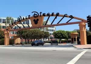 The Alameda Avenue entrance to the Walt Disney Studios in Burbank, California