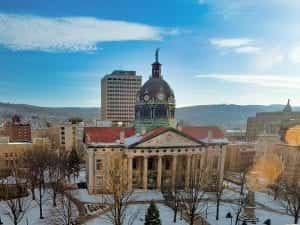 The Broome County Courthouse in Binghamton, New York