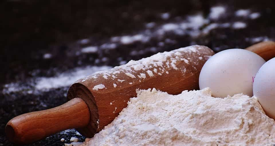 Rolling Pin, Flour, and Eggs