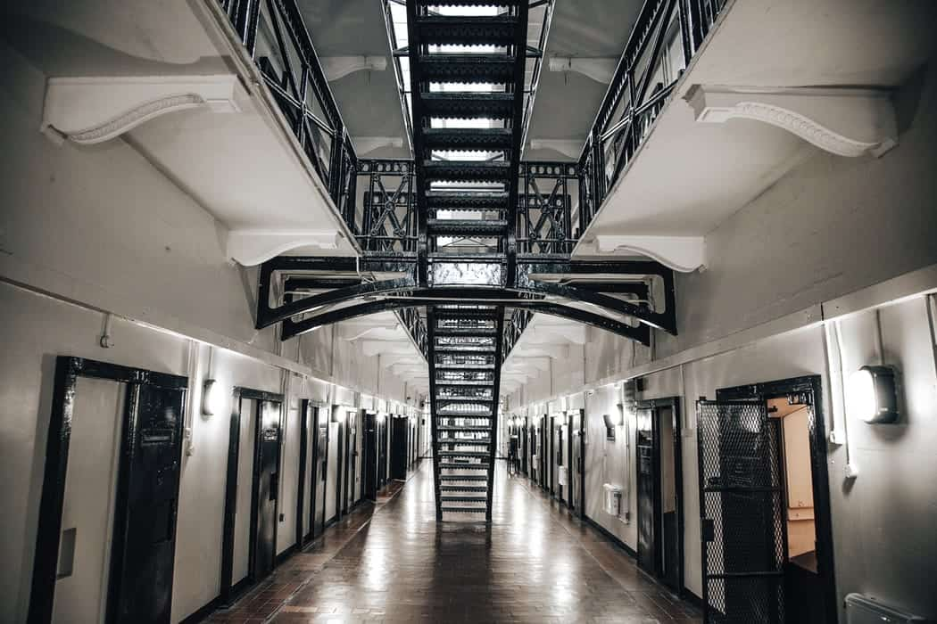 Hallway of jail cells