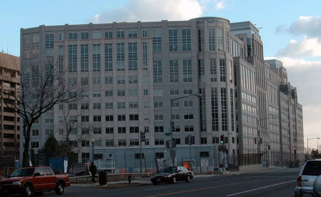ICE headquarters building in Washington, D.C.