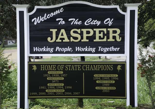 City of Jasper Welcome Sign