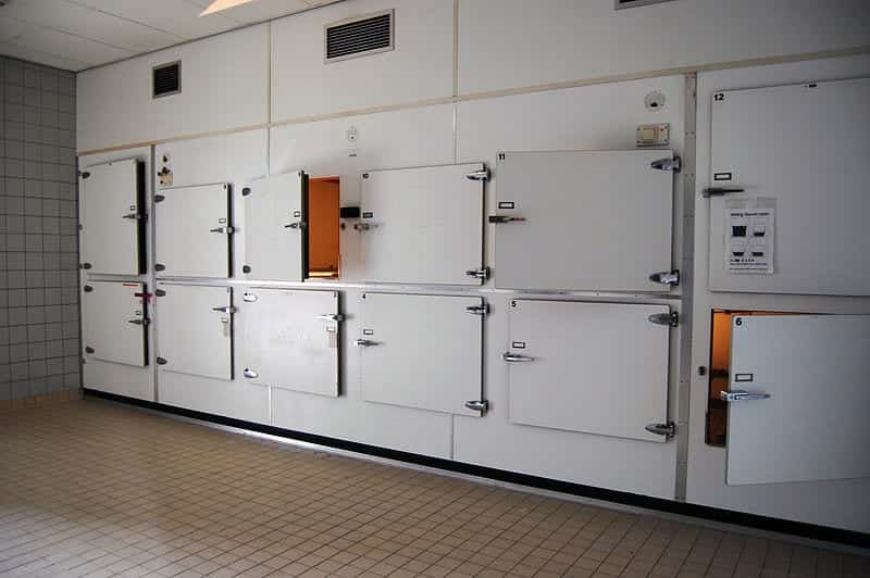 Inside view of a morgue