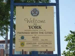 York City welcome sign