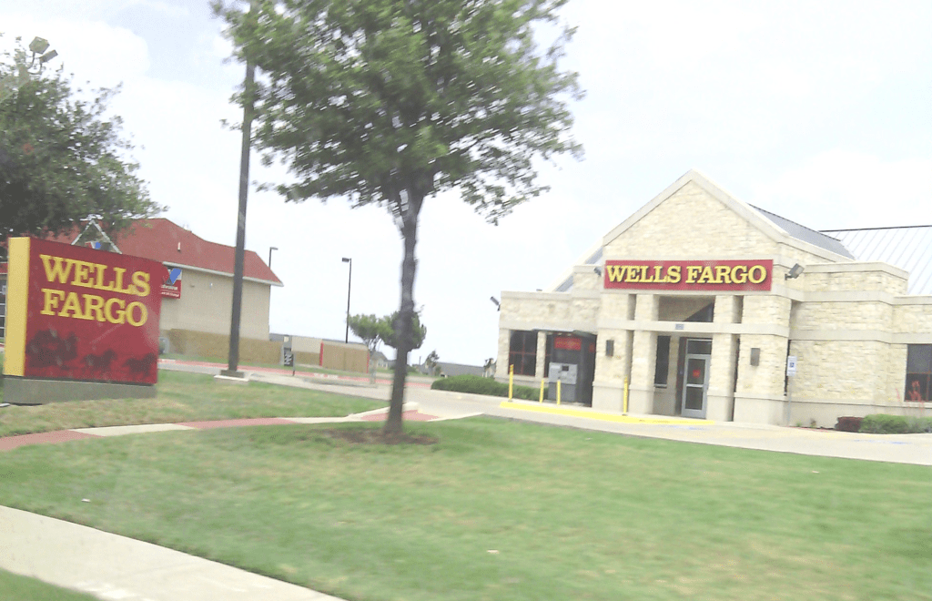A Wells Fargo bank in Fort Worth, Texas